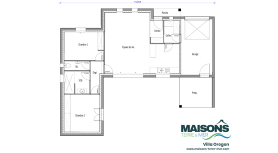 Plan Villa Oregon